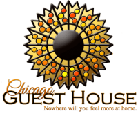 Chicago Guest House  Logo Vacation Rentals in Chicago's Wrigleyville Neighborhood Call Teri (312) 952-5150 to Reserve Best Airbnb