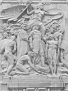 Bas Relief sculptures on Michigan Avenue Bridge